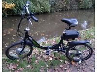 Viking Ego-Stepper folding electric shopping, commuting, camping e-bike.