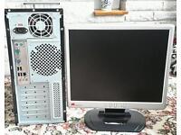 "Pc & 17"" monitor"
