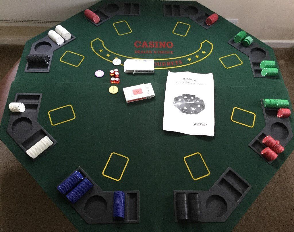 portable card table topper for 8 players in bramhall manchester