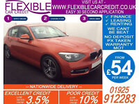 2014 BMW 118D 2.0 SPORT GOOD / BAD CREDIT CAR FINANCE FROM 54 P/WK