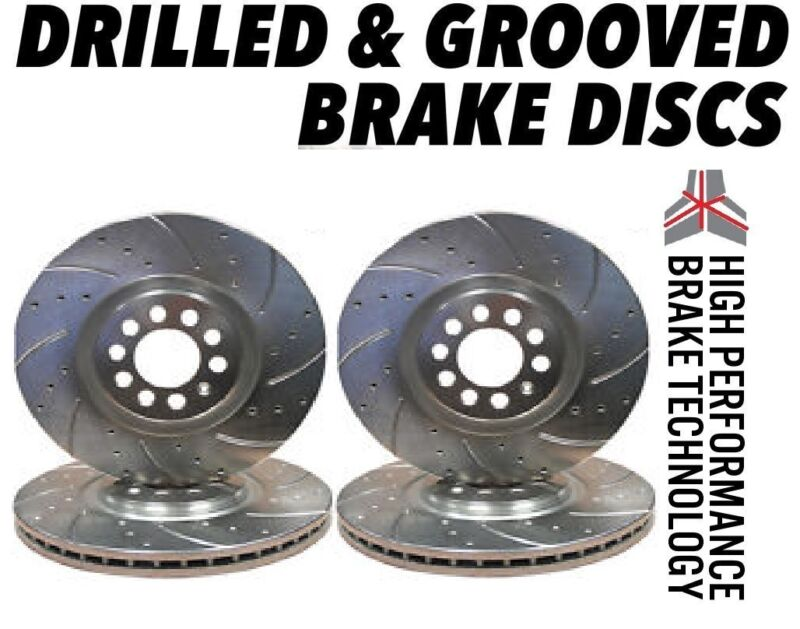 Lexus IS200 2.0 1999-2006 296mm DRILLED GROOVED BRAKE DISCS Front & Rear