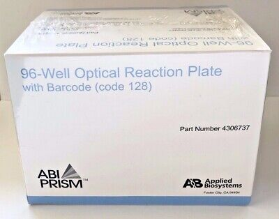 20 Abi Prism 96-well 0.2ml Optical Reaction Plates W 128 Barcode 4306737