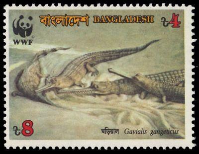 """BANGLADESH 342 (SG342) - Gavial Crocodile """"Gavialis gangeticus"""" WWF (pf55635)"""