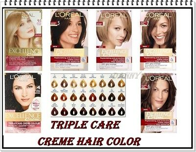 Triple Care Creme (L'OREAL PARIS EXCELLENCE CREME - TRIPLE CARE HAIR COLOR - 28 DIFFERENT SHADES)