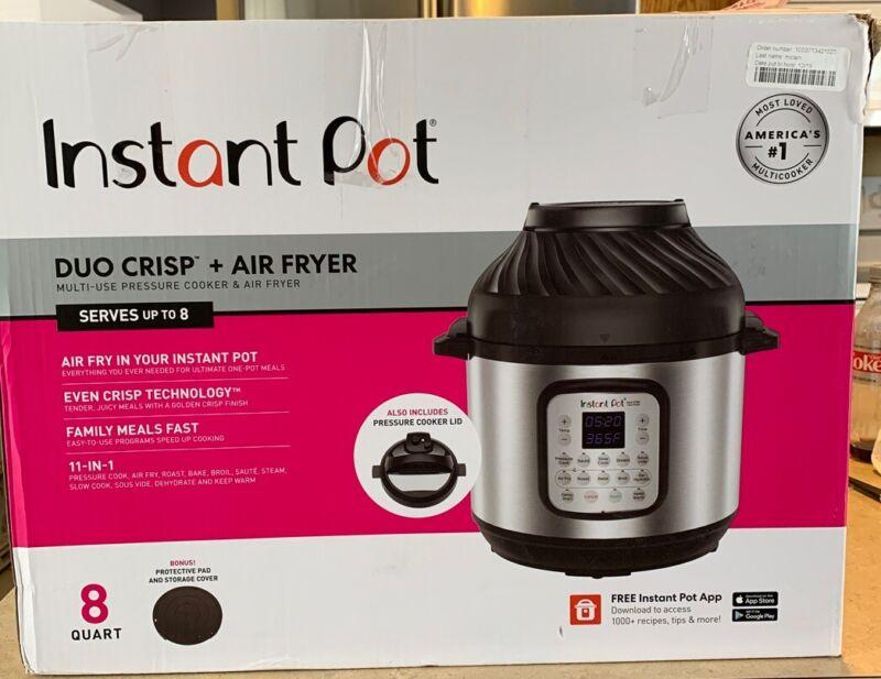 Instant Pot Duo Crisp 8qt Digital Multi Cooker - Air Fryer New Product Open Box