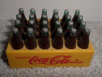 Vintage Coca-Cola Mini Magnet 24 Bottle Cart Case Plastic