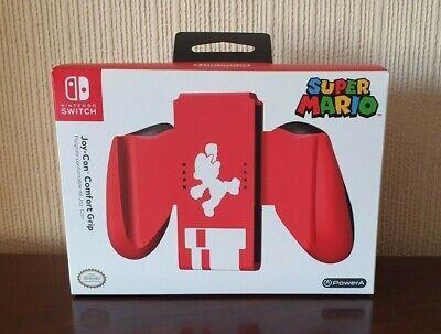 Nintendo Switch Super Mario PowerA Red Joy Con Comfort Grip - Brand New