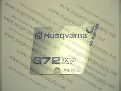 Husqvarna Chainsaw early 372XP starter cover decal Husqvarna Chainsaw Starter