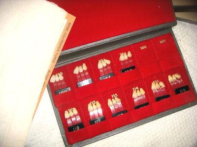 Used 9 Lot Dentsply Trubyte Bioblend Porcelain On Plastic Teeth -- No 108 109