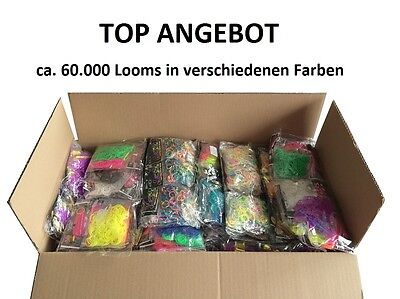 Loom Bands Gummibänder ca. 60.000 Stk. Angebot in verschiedenen Farben NEU!!