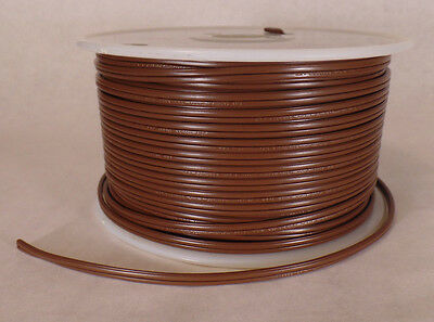 Brown Lamp Cord - 25 ft Brown 18/2 SPT-1 U.L. Listed Parallel 2 Wire Plastic Covered Lamp Cord 600