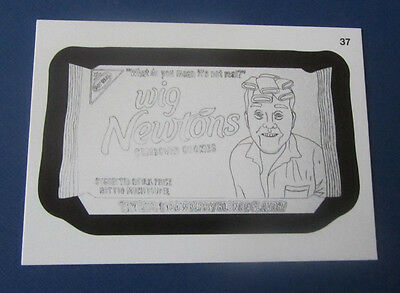 WACKY PACKAGES ANS11 SKETCH #37 WIG NEWTONS    NM/MT - Wacky Wigs