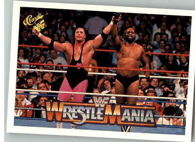 1990 Classic Wwf Wwe History Of Wrestlemania  70 Bret Hitman Hart Bad News Brown
