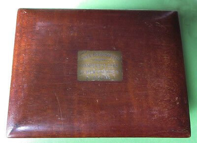 SYKES HYDROMETER FITTED BOX SANDERSON &SONS LONDON