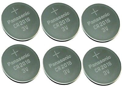 6 NEW PANASONIC CR2016 ECR 2016 Batteries 3V Exp.2025
