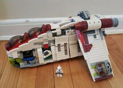 LEGO 7676 Star Wars Republic Gunship Incomplete