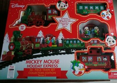 Disney's Mickey Mouse Holiday Express 36 Piece Christmas Train Set Series 2 New