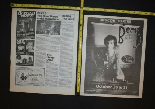 Beck 2002 2PC Concert Ad/ Review Beacon Theater NYC The Flaming Lips