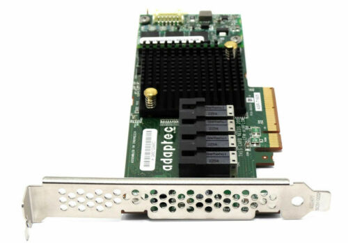 ADAPTEC ASR-71605 SFF8643 16 PORT LP SAS SATA 6Gb/s HBA/RAID CARD w/4 x CABLES