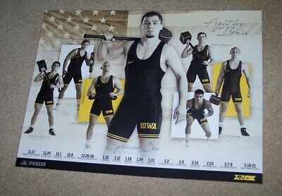 2019-2020 Official IOWA HAWKEYES Wrestling Poster -