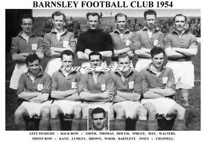 BARNSLEY-F-C-TEAM-PRINT-1954-KAYE-WOOD-LUMLEY-SPRUCE