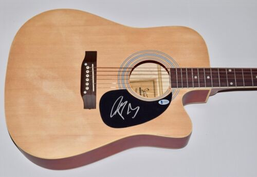 Post Malone Signed Autographed Acoustic Guitar Hollywood's Bleeding Beckett COA