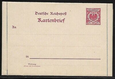 Germany Postal Letter Card - Embossed - Mint Condition - 1899-1900