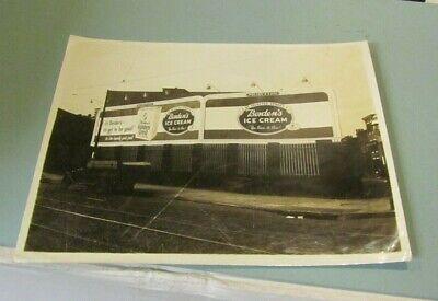 Vintage 1950's Borden's Ice Cream Billboard Advertising Photo South St Baltimore