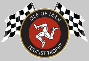 isle of man tourist trophy ile de man tt autocollant sticker 12cmx8cm ia076 ebay. Black Bedroom Furniture Sets. Home Design Ideas