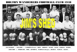 BOLTON-WANDERERS-TEAM-PRINT-1948-WOODWARD-McSHANE-GILLIES-LOFTHOUSE