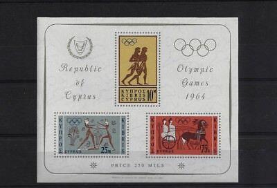CYPRUS MS248A, 1964 TOKYO OLYMPIC GAMES MINI SHEET MNH