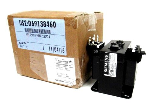 NEW SIEMENS D69138460 INDUSTRIAL CONTROL TRANSFORMER MT0250B 250VA 240/480-24V