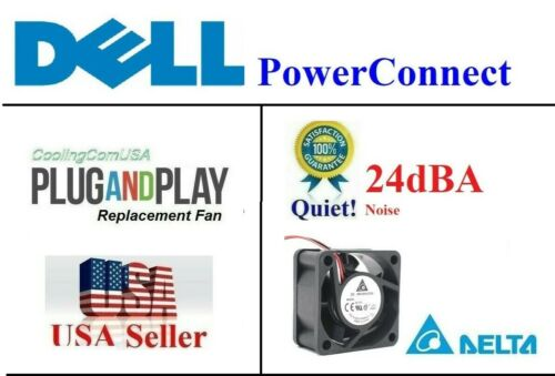 1x Quiet Replacement Fan for Dell PowerConnect 6224 6224F 6224P 6248 6248P