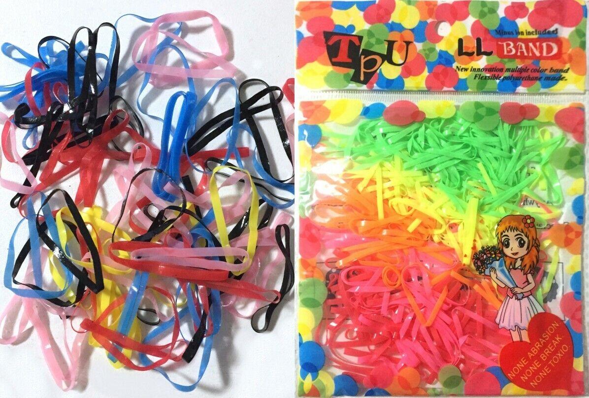250 Stück Kleine Haargummi  Zopfgummi Kinder Haarschmuck Zopfhalter Bunt Binden