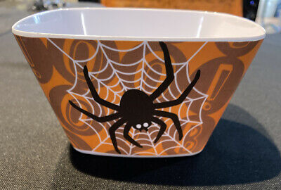 Orange And Black Spider Cereal Candy Bowl Horror - Candy Schüssel Halloween