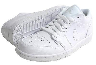 Nike Air Jordan 1 TRIPLE WHITE Retro Low Mens Leather Shoes FRESH 553558-102 NEW