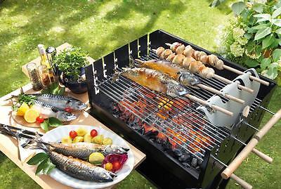 Spießgriller Grillspieß Fisch Barbecue Grillen Fischbräter Fleischwender Garten