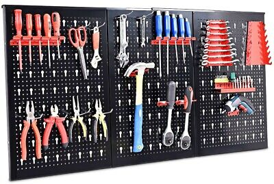 24x48 Pegboard Garage Tool Hanger Board Display Hook Pack Hanging Organizer Shop