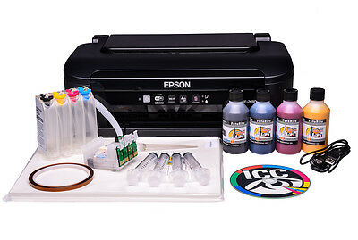Non OEM Epson WF-2010w  A4 SUBLIMATION Printer and Heat Transfer ink BUNDLE Ciss