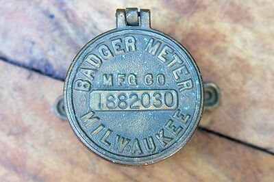 Vintage Badger Water Meter Milwaukee Wisconsin Brass Steam Punk