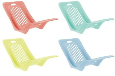 Bright Coloured Beach Chairs Swimming Pool Garden Loungers Strong