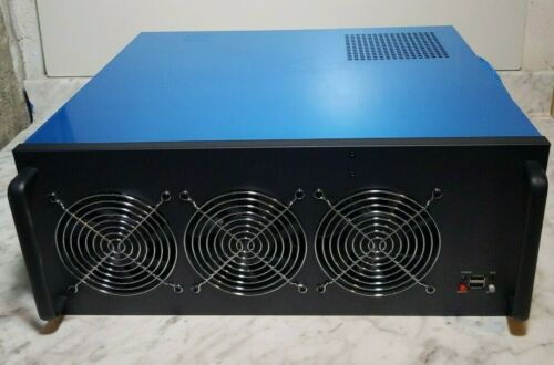 Mining Barebones 6 GPU Mining Rig 4U Ethereum Bitcoin, HiveOS 240V NO GPUs