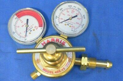 Harris Gas Regulator Model 425-15 Single Stage Regulator Cga E-4