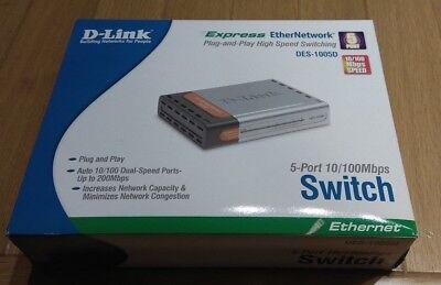 D-LINK Ethernet switch 5 port 10/100mpbs DES-1005D