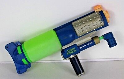 SUPER SOAKER QUICK BLAST 2007 Hasboro C-2822A Blue Green Silver Tested and Works