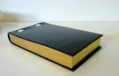 Flip Pad Refillable 3x5 Graphic Image Leather Black Python Embossed