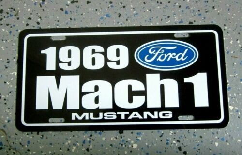 1969 Ford MACH 1 MUSTANG license Plate car tag 351 Cleveland 428 super cobra jet