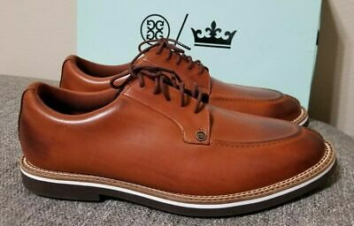 PETER MILLAR  G/FORE BURNISHED PINTUCK GOLF SHOES MENS SIZE 10.5 BROWN MF18EF07