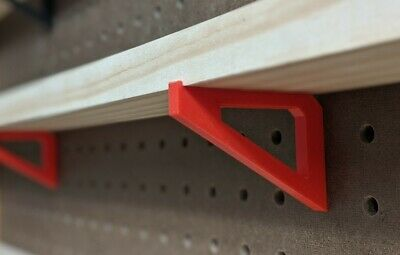 6x Pegboard Brackets Accessory For 2.5 Inch Shelf 1 Spacing To Organize Garage