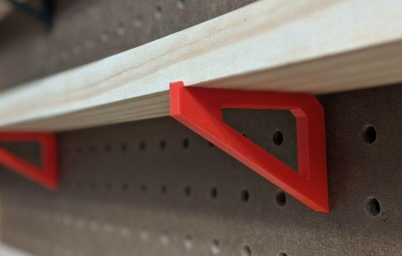 "6x PEGBOARD brackets accessory for 2.5"" inch shelf 1"" spacing to organize garage"